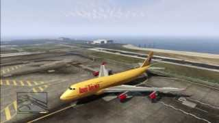 GTA 5 BIG PLANE AIRBUS AIRPORT DRIVING ON SKY FOR TEST