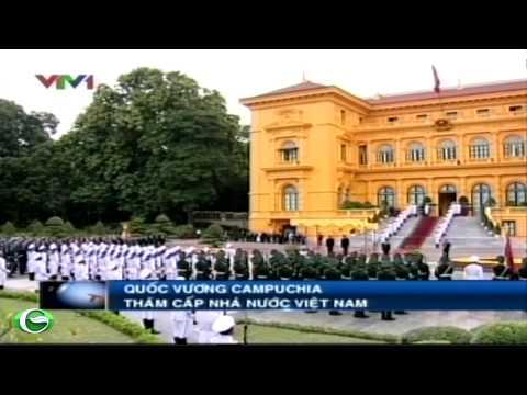 Chủ tịch nước Trương Tấn Sang tiếp Quốc vương Campuchia thăm Việt Nam