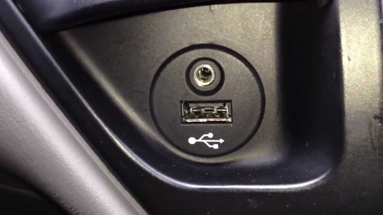Installing a aux port in a car