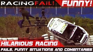 FUNNY RACING 2! Best of Fails, Hilarious Situations and Commentaries of 2017 Compilation