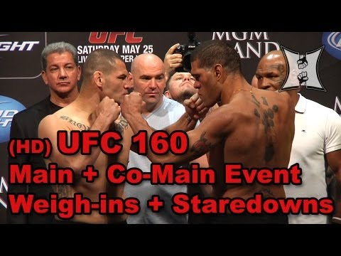 UFC 160 Cain Velasquez vs Bigfoot Silva Dos Santos vs Hunt Weighins  Staredowns HD