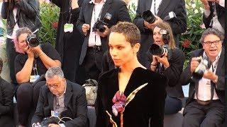 Zoe Kravitz on the red carpet of Le Fidele film at 2017 Venice Film Festival