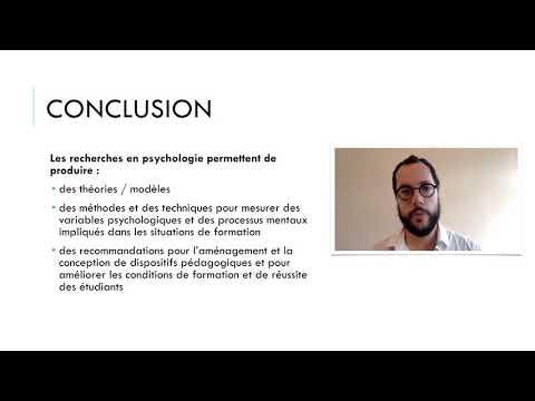 Conclusion de ce tour d'horizon des recherches en psychologie