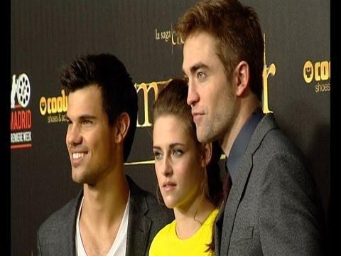 Kristen Stewart, Robert Pattinson y Taylor Lautner en Madrid