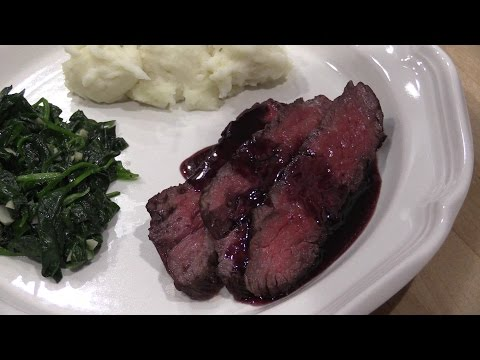 Lobel's Wagyu Rib Cap with Port Wine Reduction Sauce