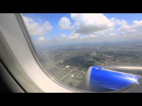 Landing at Fort Lauderdale-Hollywood Airport-Spirit Airlines A320