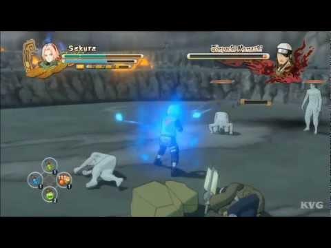 Naruto Shippuden: Ultimate Ninja Storm 3 - Sakura VS Jinpachi Munashi (Story Battle 29) [HD]