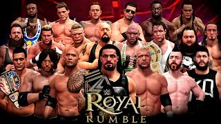 WWE Royal Rumble 2016 - 30 Man Royal Rumble Match - WWE 2K16 Royal Rumble