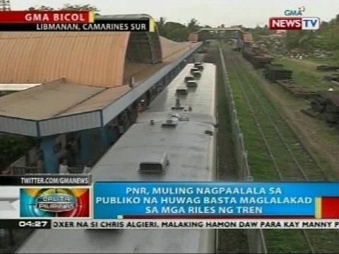 Lalaki, patay matapos masagasaan ng tren ng PNR sa Libmanan, Camarines Sur