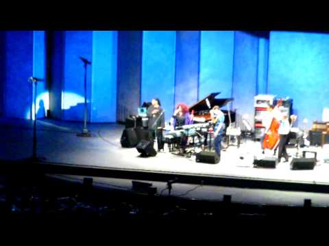 Stanley Clarke, Chick Corea, Lenny white with Chaka Khan and Stevie Wonder at the Hollywood Bowl