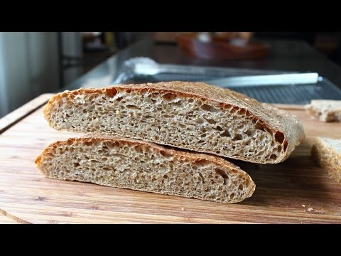Whole Wheat Ciabatta - No-Knead Whole Wheat