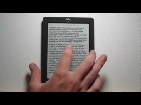 Kobo Touch New Features: Fonts. Layout Settings. Sketch
