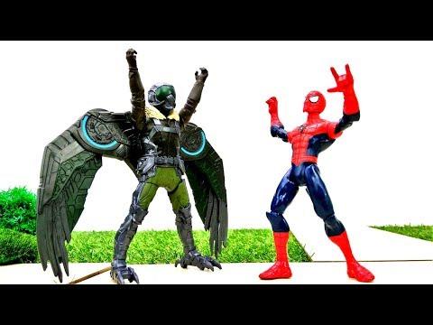 #СУПЕРГЕРОИ Marvel: Человек Паук против Стервятника: АНТИГРАВИТАЦИЯ в городе.