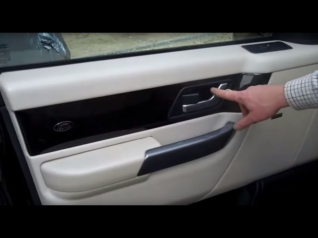 How to remove the front door card on a Range Rover Sport ...