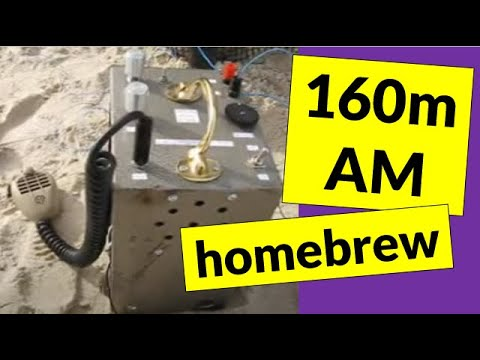 Homebrew 160 metre AM transceiver - tests from Chelsea beach