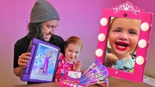 Adley App Reviews | Dress Up & Makeup Barbie game | Princess Makeover Pretend Play with Dad