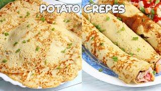 Potato Crepes/Pancake Recipe - EASY/Sweet/Savory - Breakfast meal