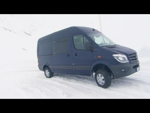 2014 Mercedes Sprinter 4x4 - Test Drive on Snow