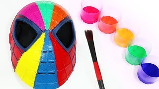 Learn Colors with Spiderman Face Painting Body Paint Finger Family Song Nursery Rhymes For Kids