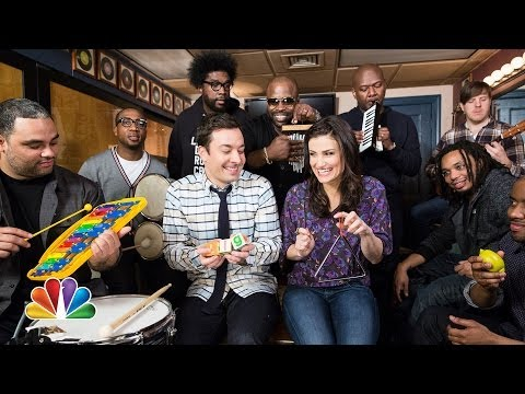 Jimmy Fallon Idina Menzel  The Roots Sing Let It G...