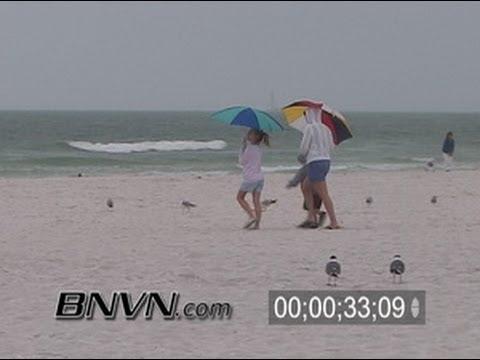 3/23/2006 Rainy afternoon at Siesta Key Beach Video News B-Roll