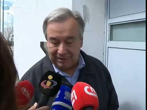 António Guterres visita Sócrates e recusa comentar presidenciais