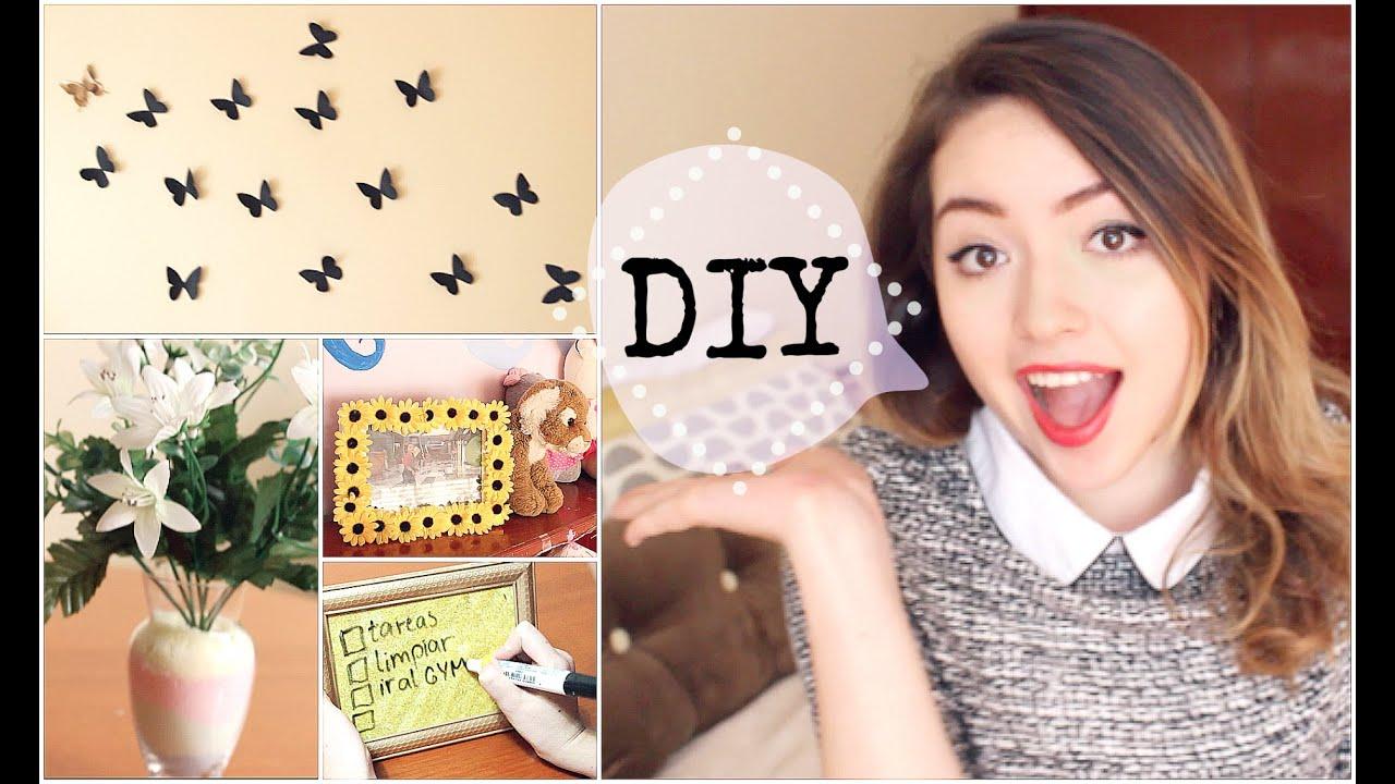 Decora tu cuarto diy 4 ideas f ciles creativas youtube for Decora tu cuarto reciclando