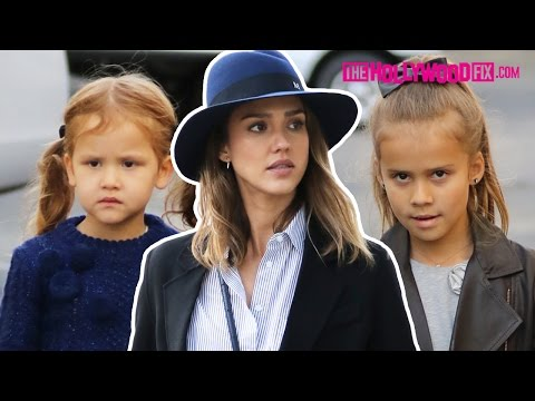 Jessica Alba Takes Her Cute Daughters Honor & Haven Warren Shopping In Beverly Hills 11.28.15