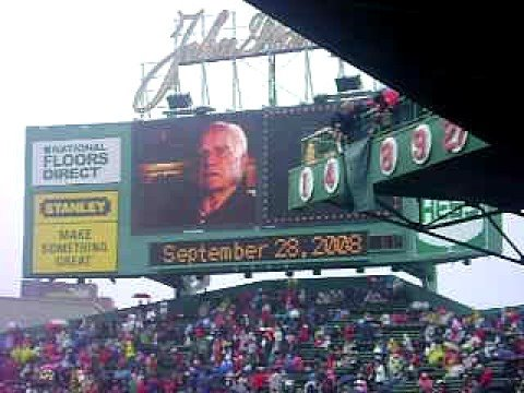 This video played on the JumboTron at Fenway before Pesky's number was retired on September 28, 2008 before a game with the Yankees.