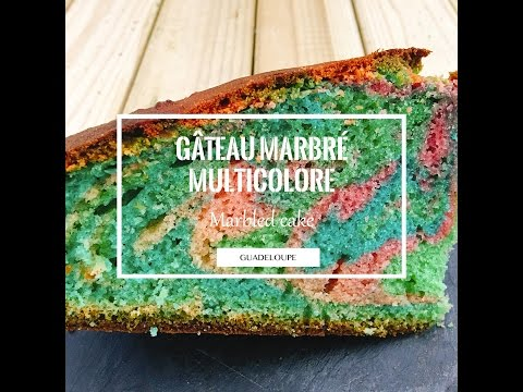 Gâteau marbré multicolore | Cuizinelokal
