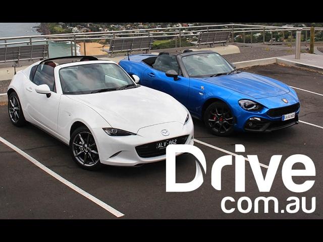 Mazda MX-5 RF v Abarth 124 Spider Comparison   Drive.com ...