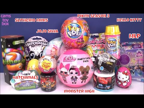 Surprise Toys Mash Up Pikmi 3 Style Series LOL Chocolate Eggs Blind Bags Unboxing Kids Fun Review