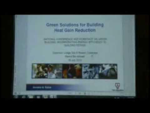 Green Solutions for Reduction  in Building Energy Consumption - Dr Badrol Bin Ahmad (TNB Research)