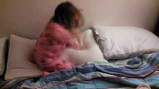 Annabelle Beats Up Pillows Like A Wild Boy Victoria Sings Gangnam Butt Crack Style?