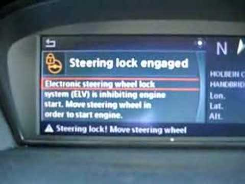 Bmw E60 M5 Electonic Steering Lock Elv Fault Youtube