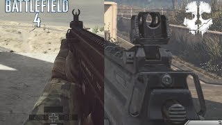 Battlefield 4 vs Call of Duty Ghosts Gun Sounds