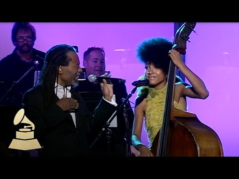 Bobby McFerrin & Esperanza Spalding jam at the 53rd GRAMMY Pre-Tel