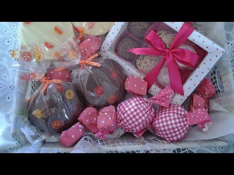 Montagem e Decora��o de Cestas para Presente - Cesta de Chocolate