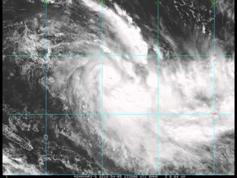 Weather Satellite Shows Tropical Cyclone Zena Swirl Towards Fiji