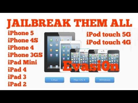 Jailbreak iOS 6.1.1. iPhone 5. 4S. 4. 3GS. iPad Mini. 4.3.2. iPod Touch 5G. 4G. Evasi0n