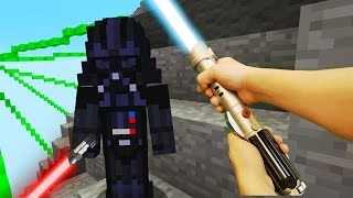 REALISTIC MINECRAFT - STEVE vs DARTH VADER! (Star Wars)