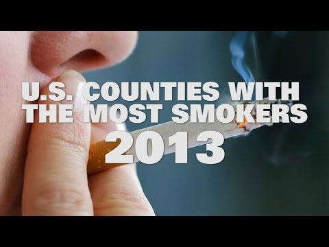 What counties in the USA have the most smokers in 2013?