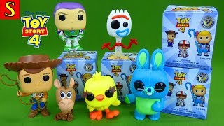 LOTS of Funko Pop Toy Story 4 Toys Mystery Box Mini Surprise Blind Bags Unboxing Forky Collection