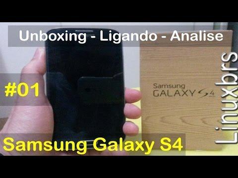 Samsung Galaxy S4 I9505 - Unboxing, ligando e analisando - PT-BR - Brasil