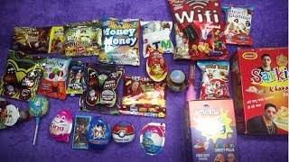 Big Collection of King Joy,Pokimon Ball,Ben 10 Malamal,Doramon Candy,Motu patlu Surprise Egg More