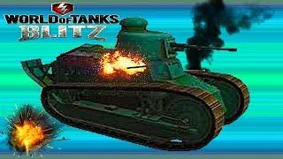 WoT Blitz -танк FT обзор Для новичков В погоню за AMX 12T французская ветка World of Tanks Blitz #28
