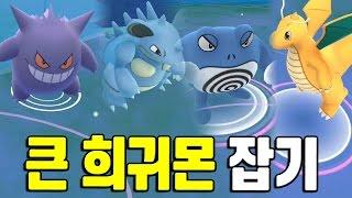포켓몬고 최종진화+큰 희귀 포켓몬들만 골라서 잡기! 포켓몬GO [Pokemon GO] - 기리
