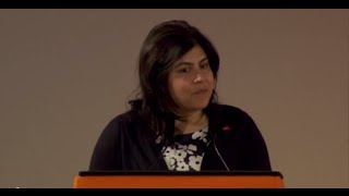 Baroness Warsi opening experts day at the Global Summit to End Sexual Violence