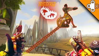 JUNKRAT SKY TRAP! Overwatch Funny & Epic Moments 483