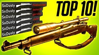 COD WW2 LUCKIEST SNIPER! TOP 10 EPIC MOMENTS